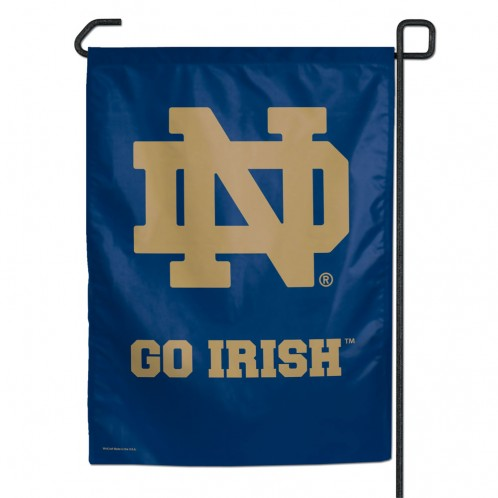 Notre Dame Fighting Irish 11x15 Garden Flag - Blue with ND Logo