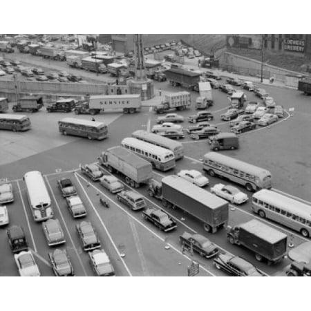 USA New York New York City Traffic jam Canvas Art -  (18 x 24)