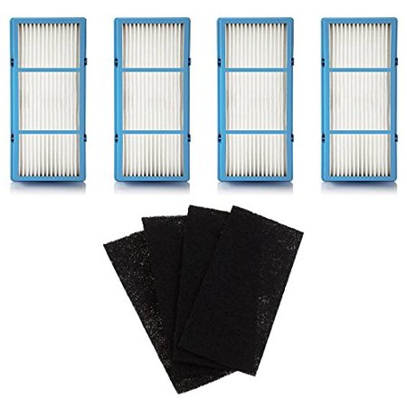 Replacement HEPA Filter and Charcoal Booster Pre Filter for Holmes AER1 Total Air Filter, HAPF30AT for Purifier HAP242-NUC, 4 Filters