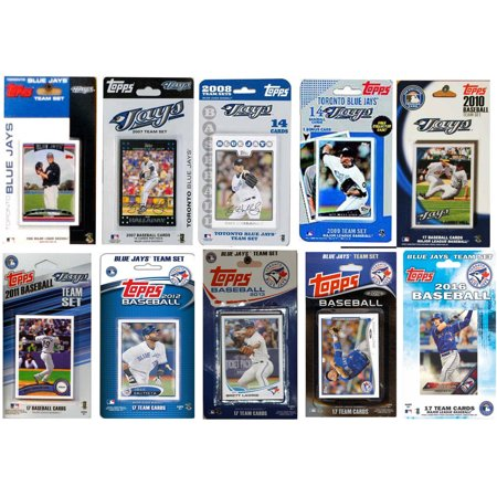 C&I Collectables MLB Toronto Blue Jays 10 Different Licensed Trading Card Team Sets (Blue Jean Baseball)