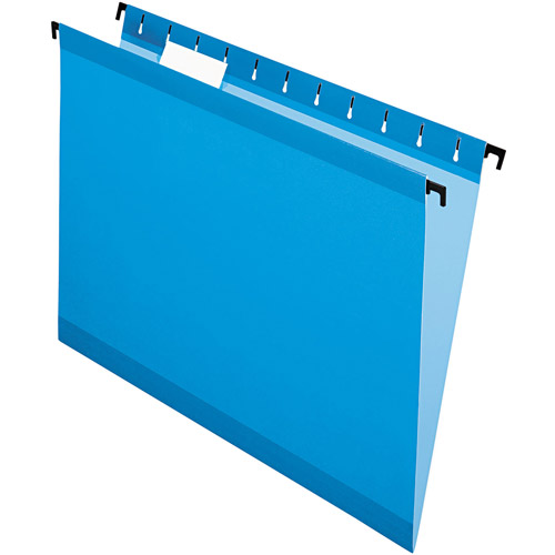 Pendaflex SureHook Hanging File Folders, Letter, Blue, Box of 20