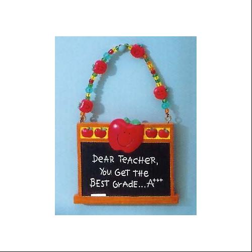 """Dear Teacher, You Get The Best Grade... A+++"" Message Christmas Ornament"