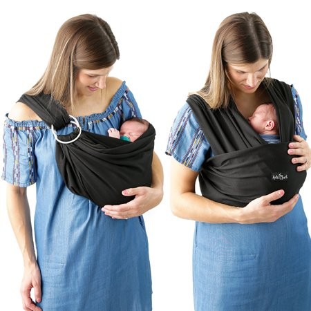 Kids N' Such 4 in 1 Baby Wrap Carrier and Ring Sling - Use as a Postpartum Belt or Nursing Cover - FREE Carrying Pouch - Best Baby Shower Gift for Boys or Girls - Premium Cotton Blend - (Best Baby Carrier For 3 Month Old)