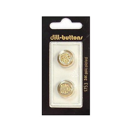Dill Buttons 15mm 2pc Shank Gold/Silver Metal Button Shank Remover