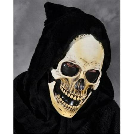 Hooded Grim Skull Mask for $<!---->