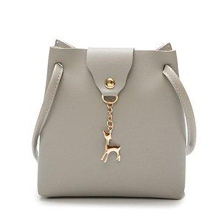 DeerWomen Handbag Solid Color Shoulder Bag Storage Bag with Adjustable Strap - image 1 de 8