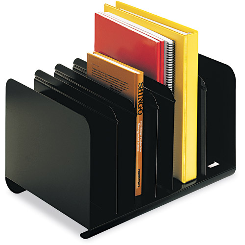 MMF Industries Steelmaster 6-Section Adjustable Bookrack, Black