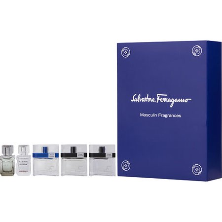 Salvatore Ferragamo Variety Set-5 Piece Mens Mini Variety With F By Fe Salvatore Ferragamo Variety By Salvatore Ferragamo Cologne Giftset Set-5 Piece Mens Mini Variety With F By Ferragamo & F By Ferragamo Free Time & F By Ferragamo Black & Attimo & Attimo L'eau And All Are Edt .17 Oz Minis For Men