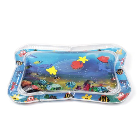 Inflatable Baby Water Mat Infant Tummy Time Playmat Toddler Fun Activity Play Center Tummy Time Activity Mat