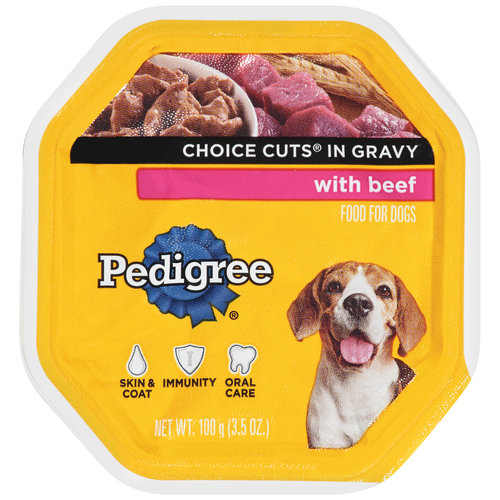 Pedigree Choice Cuts in Gravy Dog Food with Beef, 12ct