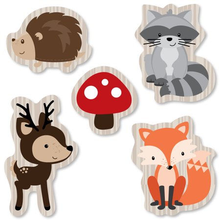Woodland Creatures - DIY Shaped Party Cut-Outs - 24 - Woodland Creature Baby Shower