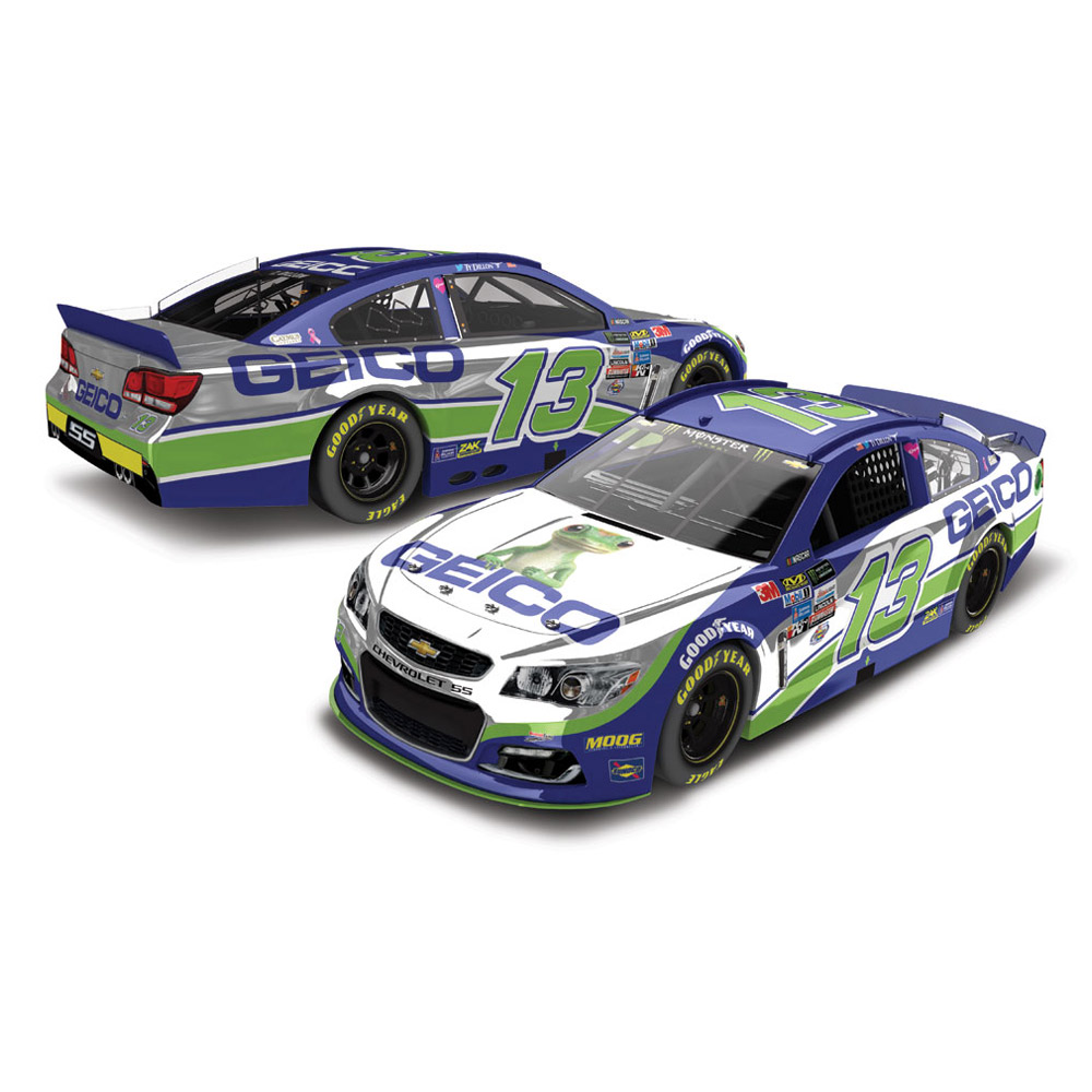 Action Racing Ty Dillon 2017 #13 GEICO 1:24 Monster Energy Nascar Cup Series Color Chrome... by Lionel LLC