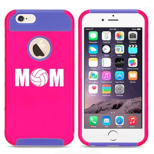 Apple iPhone 5c Shockproof Impact Hard Case Cover MOM Volleyball (Hot Pink-Blue),MIP