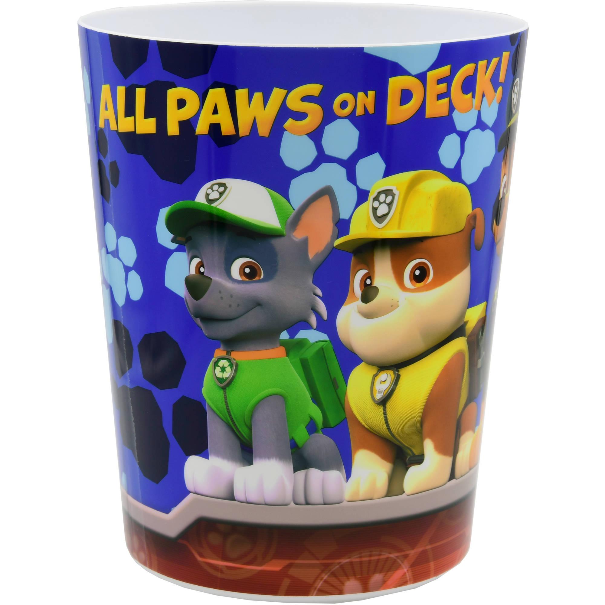 Paw Patrol Rescue Crew Wastebasket, 1 Each