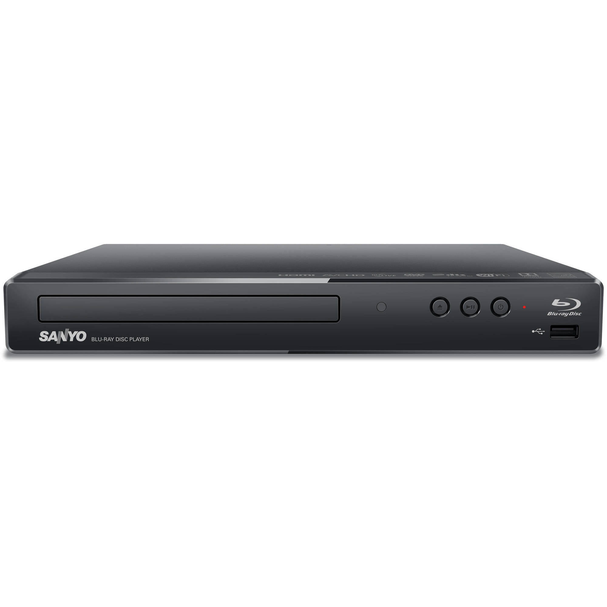 Refurbished Sanyo Blu-ray & DVD Player with Wi-Fi Streaming (FWBP706F) by Sanyo