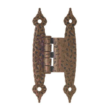 3/8in (10 mm) Offset Antique Copper Hinge - 2 Pack