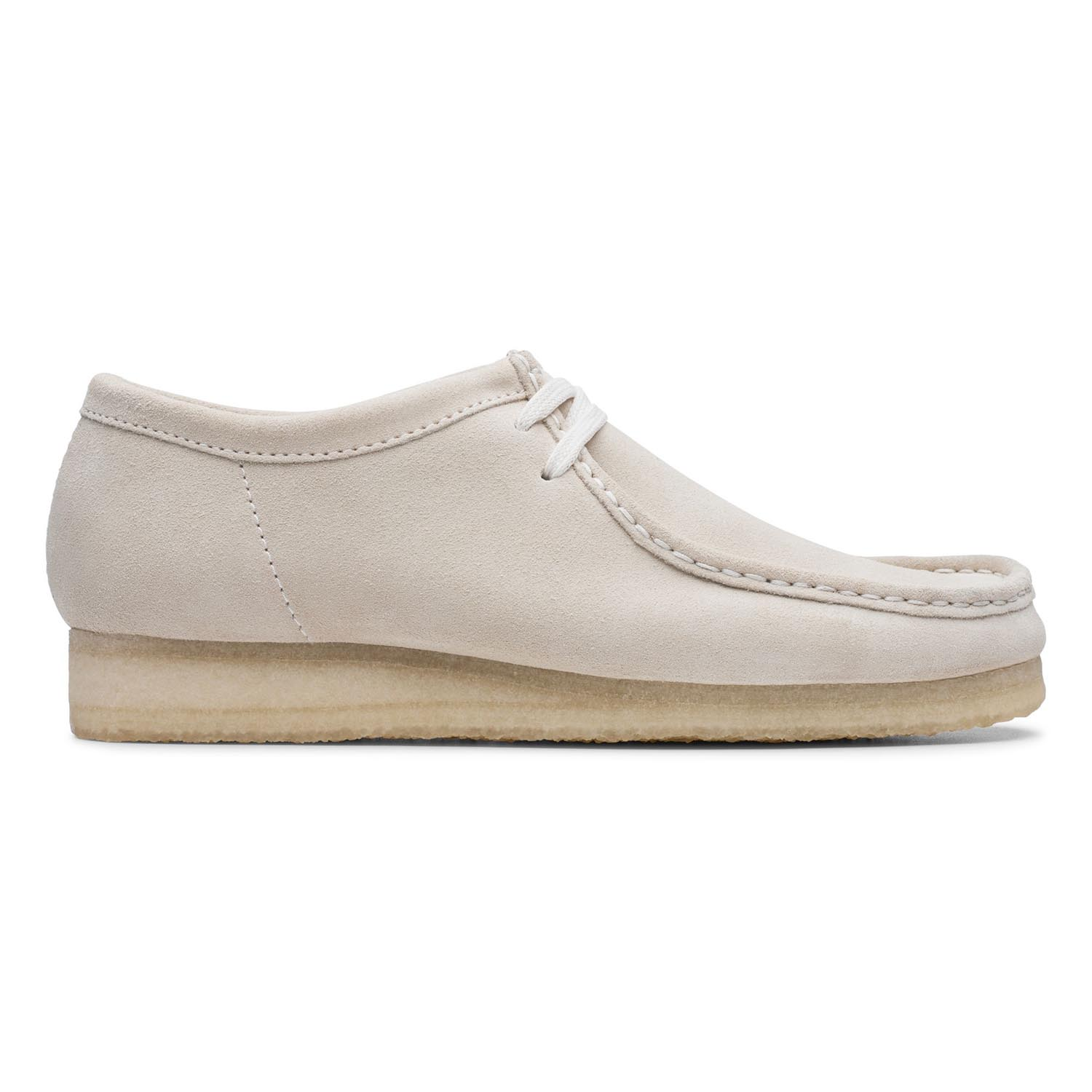 Clarks Wallabee Mens Shoes Off White