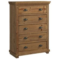 Progressive Willow 5 Drawer Chest in Distressed Pine