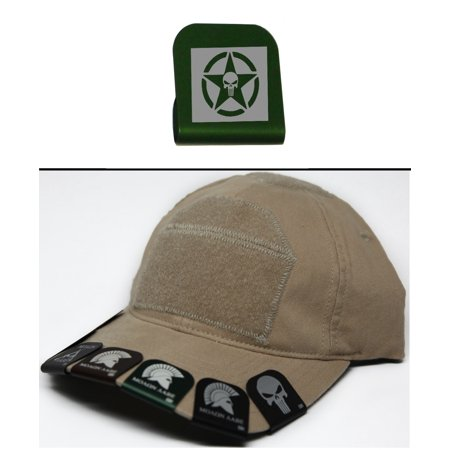 Ultimate Arms Gear PUNISHER WITH STAR Hat Cap Crown Brim-It, Green
