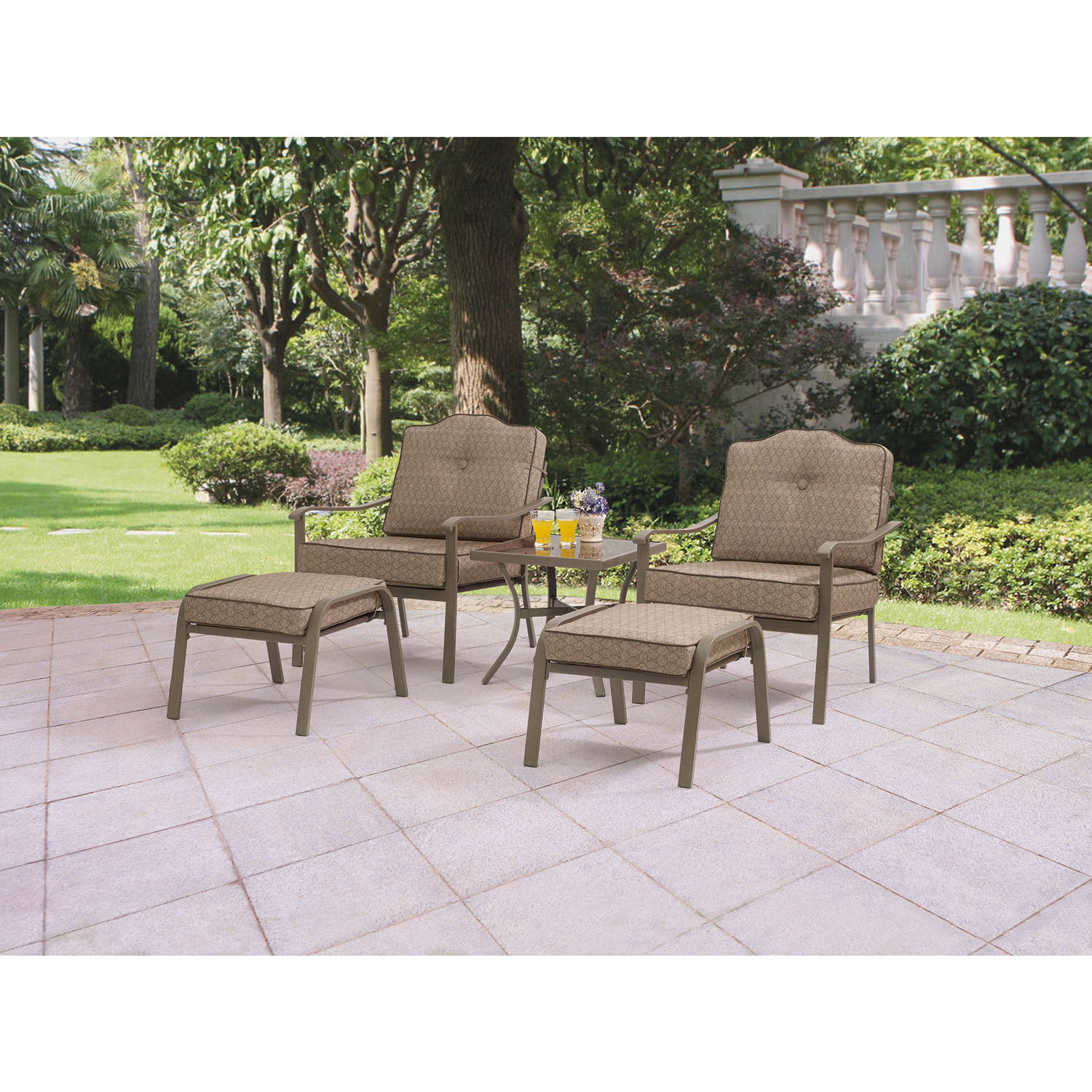 Mainstays Woodland Hills Piece Leisure Set Walmartcom - Woodland patio furniture