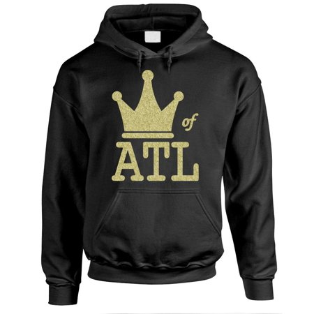 KING OF ATL - hip hop rap music atlanta - Fleece PULLOVER Hoodie