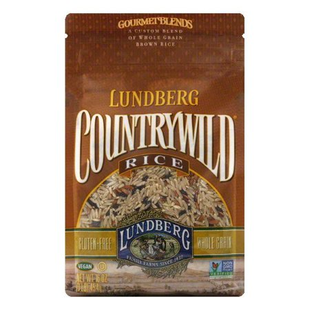 Brown Rice Blend (Lundberg Gluten Free Rice Eco-Farmed Countrywild Gourmet Natural Brown Blend, 16 OZ (Pack of 6))