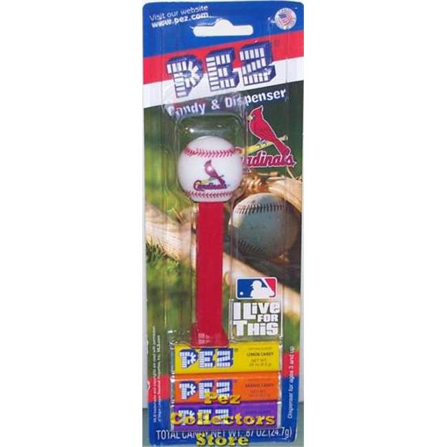 Pez Candy Inc.  PEZBBSTL12 12-packs of MLB Pez Candy Dispenser - Cardinals