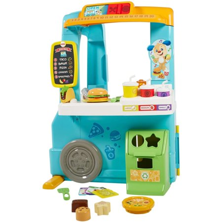 Fisher-Price Laugh & Learn Servin' Up Fun Food Truck with 20+ Piece Accessory Set ()