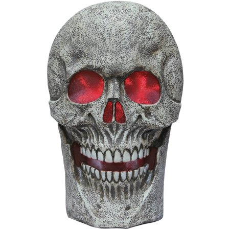 Light-up Skull with Sound Halloween Decoration