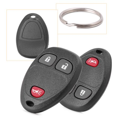 GZYF 2 Keyless Entry Remote Control Key Fob Replacement for 3-Button for  GMC Sierra 1500 2500 3500 Chevrolet Silverado - 2011 2012 2013, Black