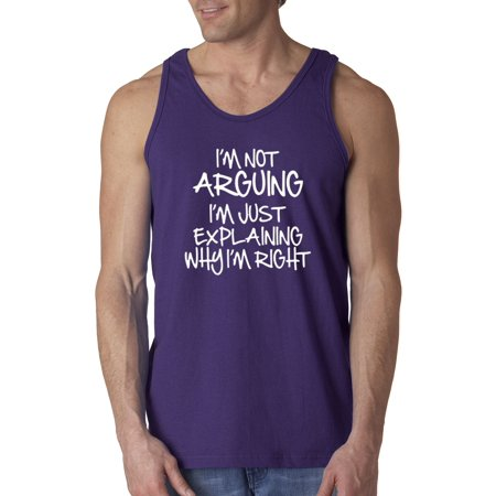 New Way 407 - Men's Tank-Top I'm Not Arguing Just Explaining Why Right XL Purple