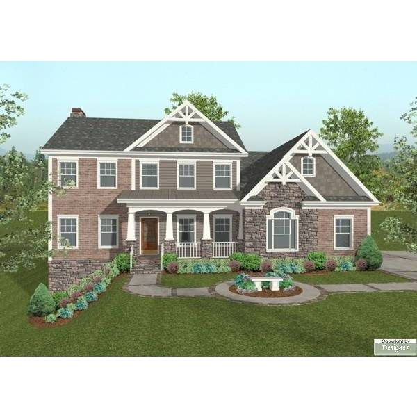 TheHouseDesigners-8912 Southern House Plan with Basement Foundation (5 Printed Sets)