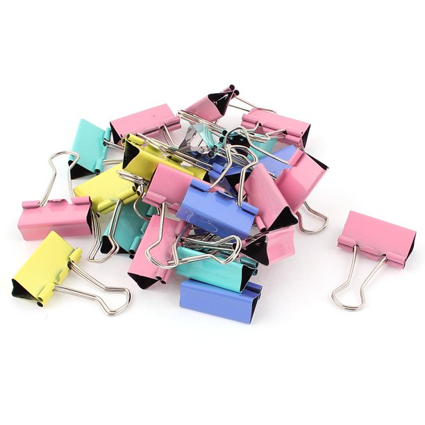 Metal Clamp Binder Paper Clips Stationery Document