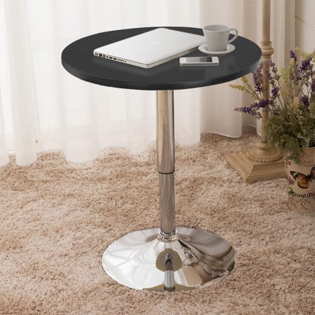 Yaheetech Modern Round Bar Table Adjustable 360 Degree Swivel Indoor Black Ribbon Bar Table