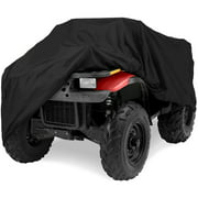"North East Harbor Deluxe All-Weather Water Repellent ATV Cover - Universal Fits up to 76"" Length 4-Wheeler 4X4 ATV Black 190T Cover Protects From Rain, Dust, Snow, and Sun - 76'' L x 45'' W x 33'' H"