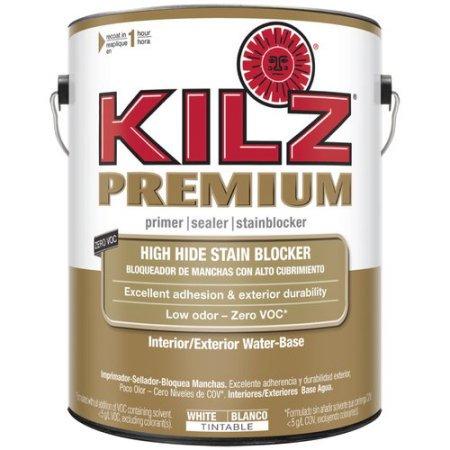 Kilz premium high hide stain blocking interior exterior for Exterior wood water based primer