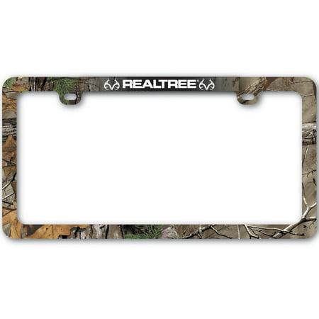 realtree xtra camo license plate frame