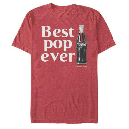 Coca Cola Best Pop Ever Bottle Mens Graphic T Shirt