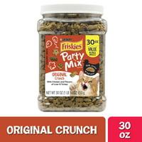 Friskies Party Mix Original Crunch Cat Treats, 30 oz. Canister