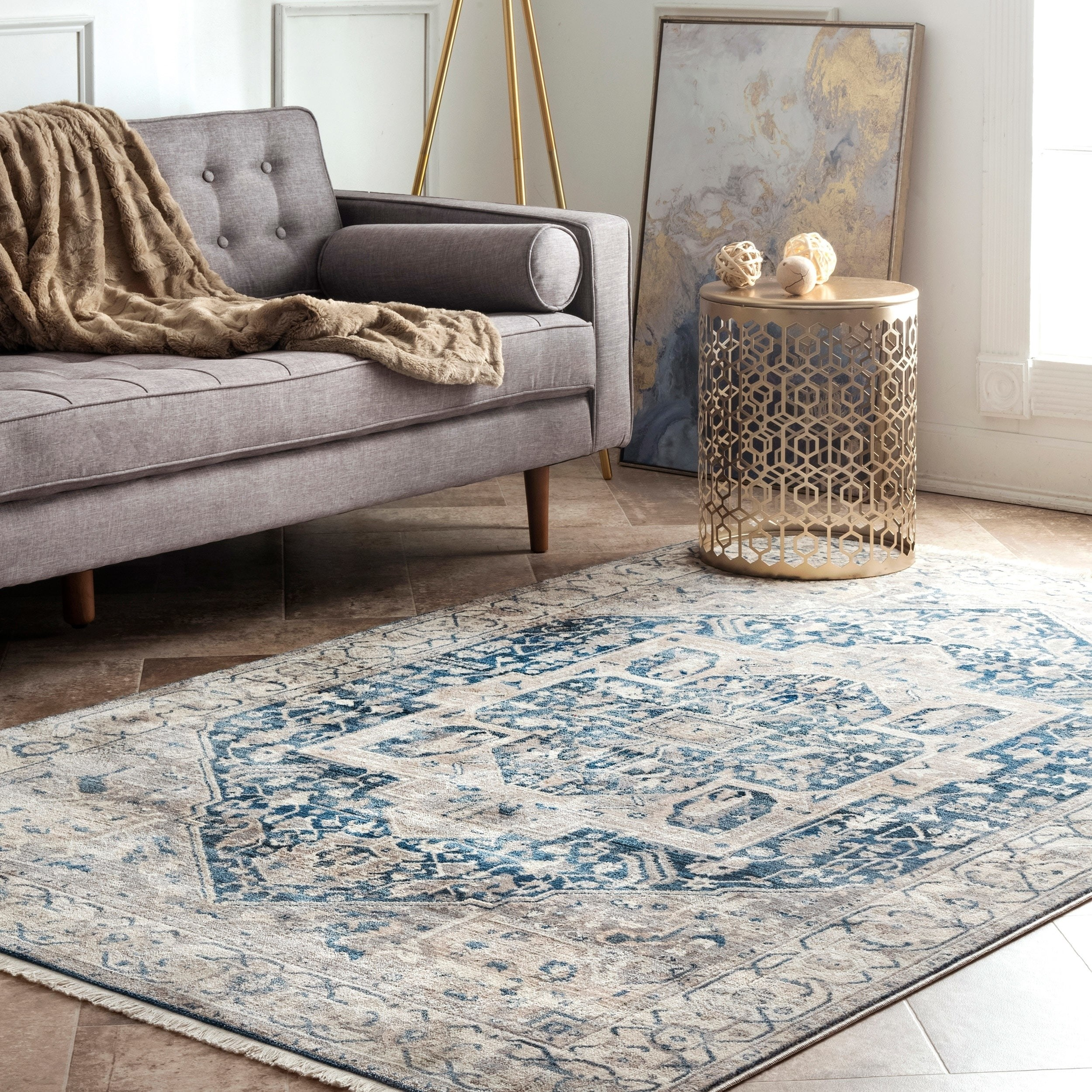 nuLOOM Ehtel Medallion Fringe Area Rug or Runner