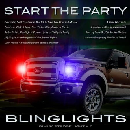 Ford F 250 Super Duty Strobes Headlamps Headlights Head Lamps Lights F250 Superduty Strobe Light Kit