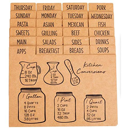 "Outshine 4""x6"" Kraft Recipe Card Dividers with Tabs (Set of 24), best gift 1 Kraft Divider"