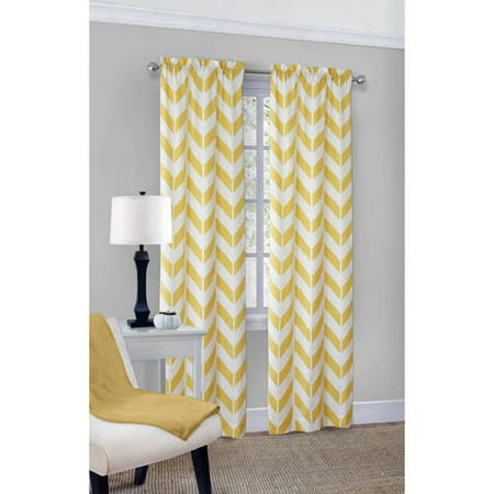 Mainstays Chevron Curtain With Bonus Panel, Set of 2 - Walmart.com