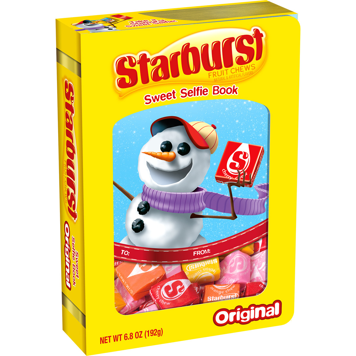 Starburst Original Fruit Chews Sweet Selfie Candy Book, 6.8 ounce