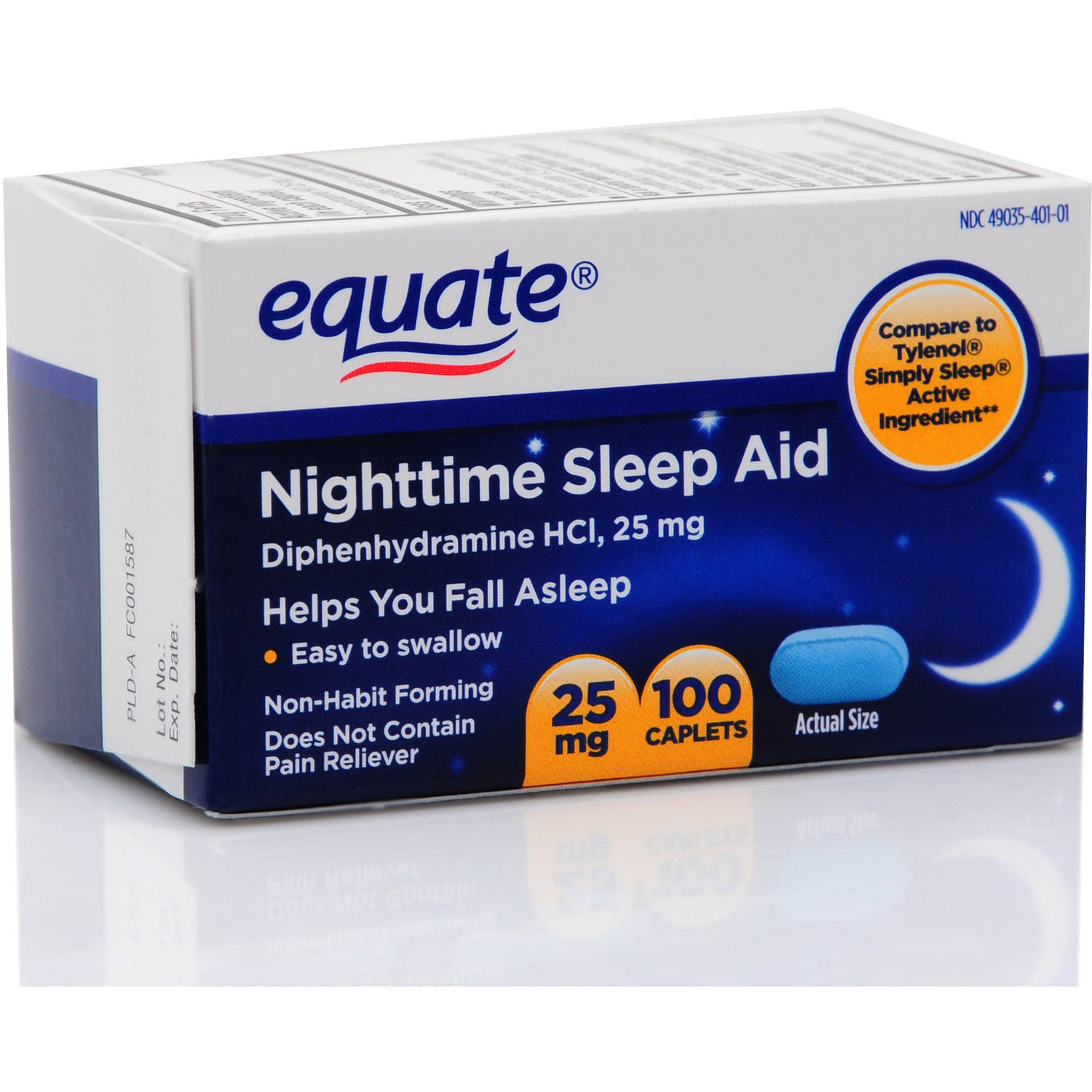 Equate Nighttime Mini-Caplets Sleep Aid 100 Ct