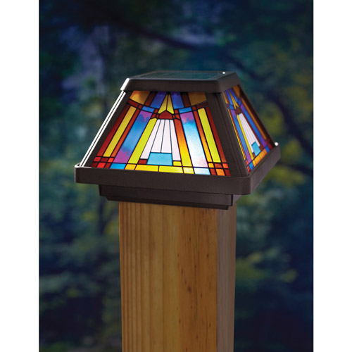 Moonrays 1 Light Black Outdoor Led Solar Powered Post Cap: Product Features: