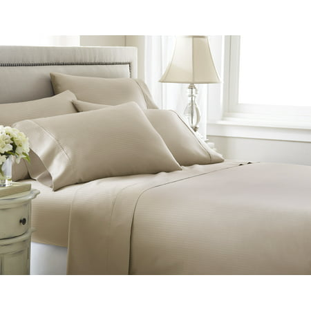 Image of 800 thread count Cotton Rich Stripe 6pc Sheet Set