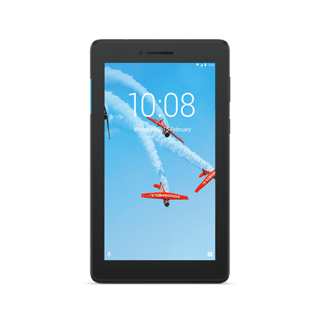 "Lenovo Tab E7, 7"" Android Tablet, Quad-Core Processor, 8GB Storage, Slate Black, Bundle with Back Cover Included"
