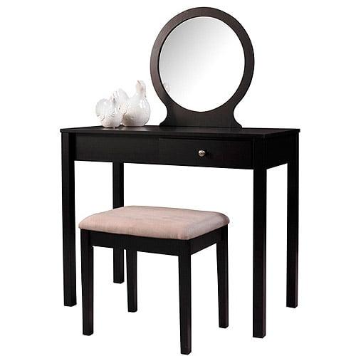 Linon Home Decor 58035Blk-01-Kd-U Scarlett Vanity