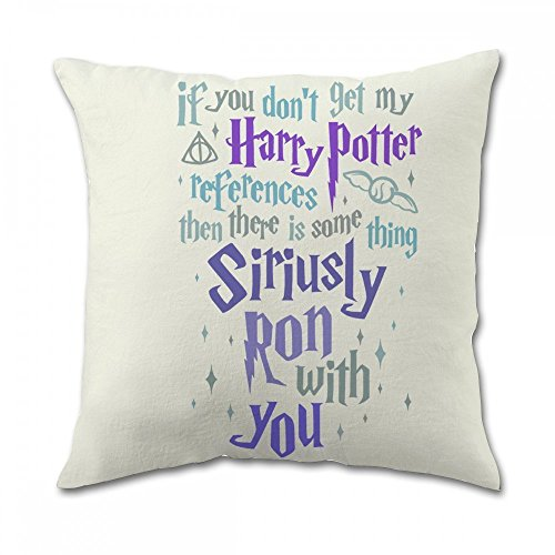 DEYOU If You Don't Get Your Harry Potter Pillowcase Pillow Case Cover Two Sides Printing Size 18x18 inch